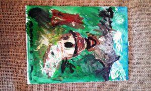 Malba na platno - akryl - ,,Kaplnka´´