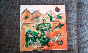 Malba na platno - akryl - ,,Kapela´´